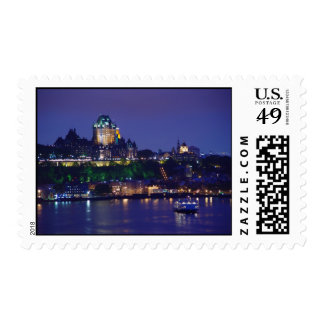 Chateau Frontenac Castle Night Quebec City Stamps