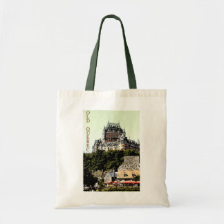 Chateau Frontenac in Old Quebec travel tote