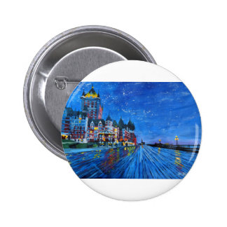 Château Frontenac Quebec Canada by night Pinback Buttons