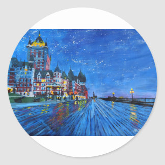 Château Frontenac Quebec Canada by night Classic Round Sticker