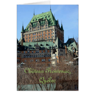 Château Frontenac, Québec, Canada Card