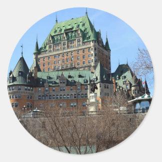 Château Frontenac, Québec, Canada Classic Round Sticker