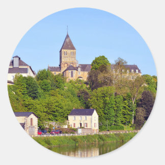 Château-Gontier in France Classic Round Sticker