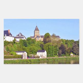 Château-Gontier in France Rectangular Sticker
