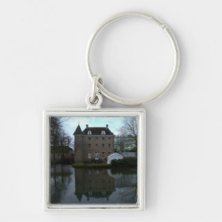 Château Holtmühle, Tegelen Silver-Colored Square Keychain