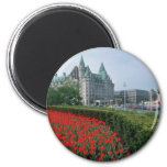 Chateau Laurier Hotel, Ottawa flowers Refrigerator Magnets