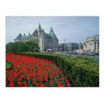 Chateau Laurier Hotel, Ottawa flowers Postcard