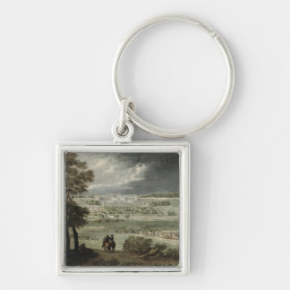 Chateau-Neuf de St. Germain-en-Laye in 1655 Silver-Colored Square Keychain