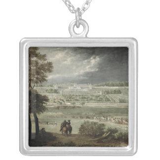 Chateau-Neuf de St. Germain-en-Laye in 1655 Silver Plated Necklace