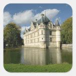 Chateau of Azay-le-Rideau, Indre-et-Loire, 2 Square Sticker