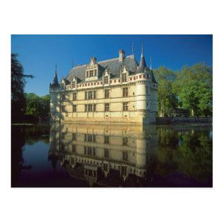 Chateau of Azay-le-Rideau, Indre-et-Loire, Postcard