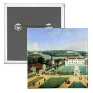 Chateau of Charles Guillaume Le Normant 2 Inch Square Button
