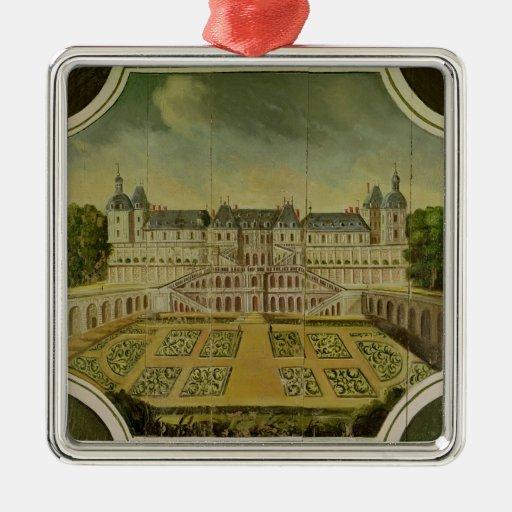 Chateau Saint-Germain-en-Laye Square Metal Christmas Ornament