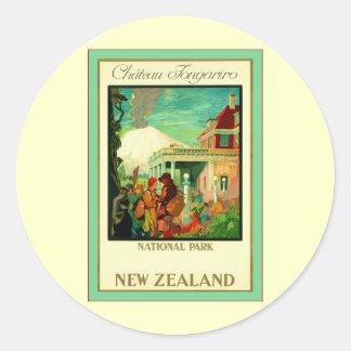 Château Tongariro ~ National Park ~ New Zealand ~ Classic Round Sticker