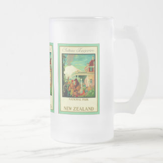 Château Tongariro ~ National Park ~ New Zealand ~ Frosted Glass Beer Mug