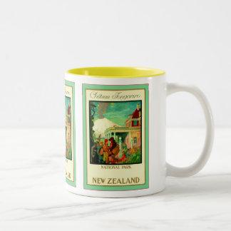 Château Tongariro ~ National Park ~ New Zealand ~ Two-Tone Coffee Mug