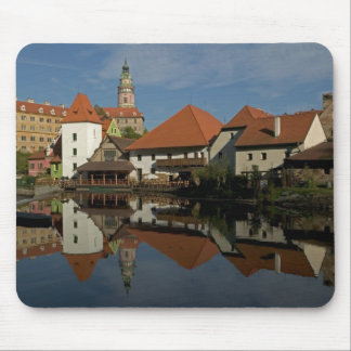 Chateau tower, Vltava River, Cesky Krumlov, Mouse Pad