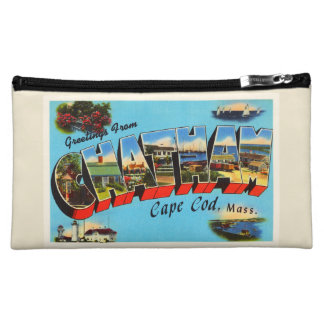 Chatham Cape Cod Massachusetts MA Travel Souvenir Cosmetic Bag