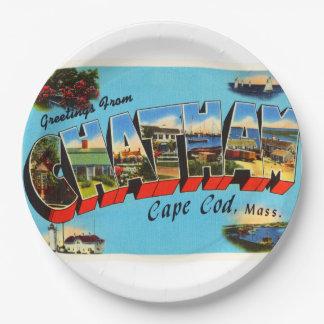 Chatham Cape Cod Massachusetts MA Travel Souvenir Paper Plate