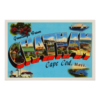 Chatham Cape Cod Massachusetts MA Travel Souvenir Poster