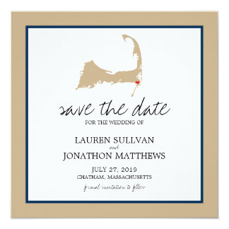 Chatham Cape Cod Wedding Save the Date Card