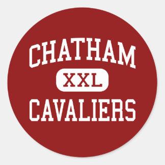 Chatham - Cavaliers - High - Chatham Virginia Round Sticker