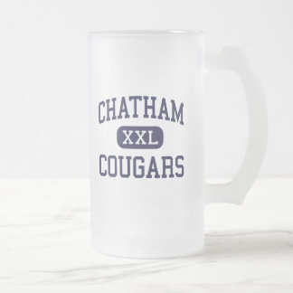 Chatham - Cougars - High - Chatham New Jersey 16 Oz Frosted Glass Beer Mug