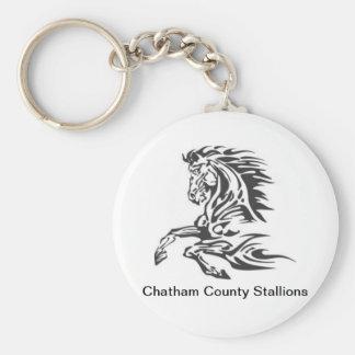 Chatham County Stallions Key Chain