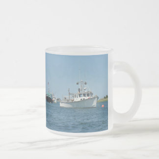 Chatham Harbor Boats Frosted Glass Coffee Mug