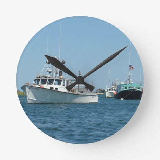Chatham Harbor Boats Round Clock