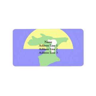 Chatham Islands, New Zealand Address Label