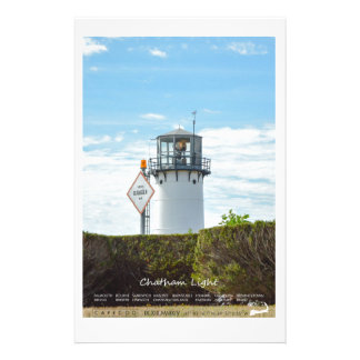 Chatham Light - Cape Cod. Personalized Stationery