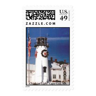 Chatham Light Christmas Stamps