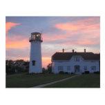 Chatham Lighthouse Sunset Postcard