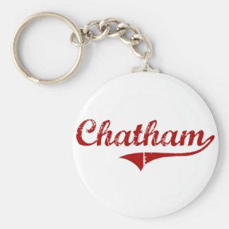 Chatham Massachusetts Classic Design Basic Round Button Keychain