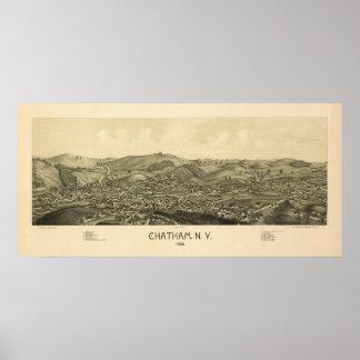 Chatham NY 1886 Póster