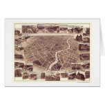Chatham, ON, Canada Panoramic Map - 1870 Greeting Card