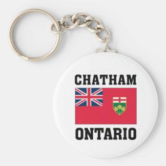 Chatham Ontario Basic Round Button Keychain