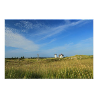 Chatham Stage Harbor Lighthouse Beach Grasses Poster