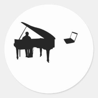 CHATROULETTE PIANO IMPROV CLASSIC ROUND STICKER