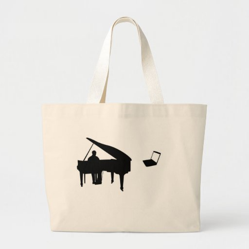 CHATROULETTE PIANO IMPROV JUMBO TOTE BAG
