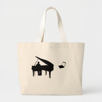 CHATROULETTE PIANO IMPROV LARGE TOTE BAG