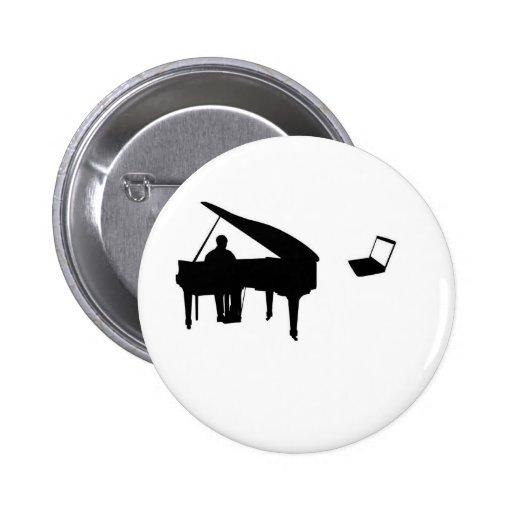 CHATROULETTE PIANO IMPROV PINBACK BUTTON