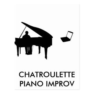CHATROULETTE PIANO IMPROV POSTCARD
