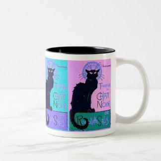 Chats Noir (Black Cats) Two-Tone Coffee Mug
