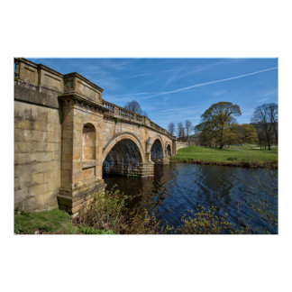 Chatsworth House Bridge Poster