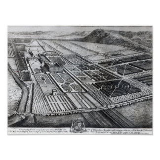 Chatsworth House, engraved by Johannes Kip Poster