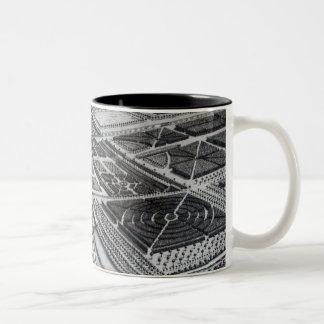 Chatsworth House, engraved by Johannes Kip Two-Tone Coffee Mug