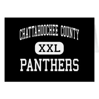 Chattahoochee County - Panthers - High - Cusseta Greeting Card