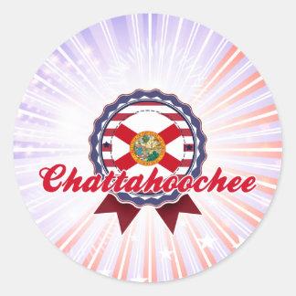 Chattahoochee, FL Pegatina Redonda